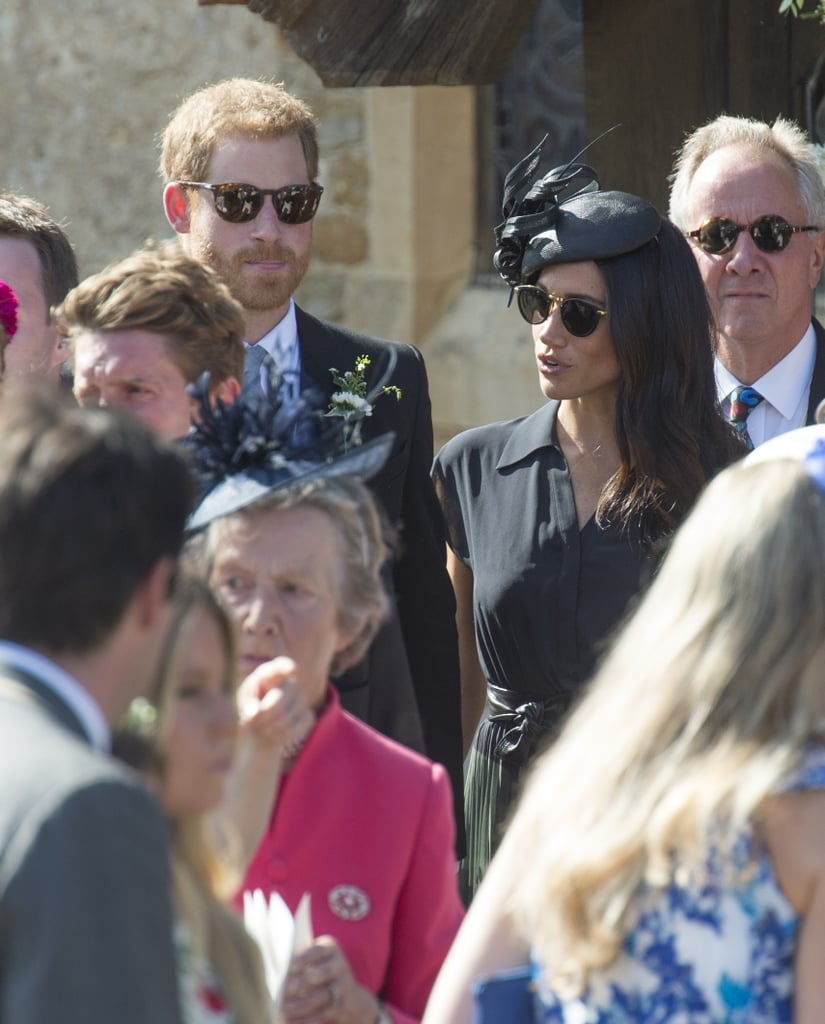 Prince Harry and Meghan Markle at Friend's Wedding 2018