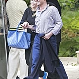 Chelsea Handler and boyfriend André Balazs attended Jessica Simpson's baby shower in Los Angeles.