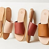 UO Soft Leather Slide Sandals
