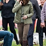 Kate Wore Zippered Zara Jeans in London