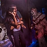There are plenty of ghoulish jump-scares throughout the Freak Show section courtesy of Twisty the Clown, but mostly it's about observing some stomach-churning vignettes.