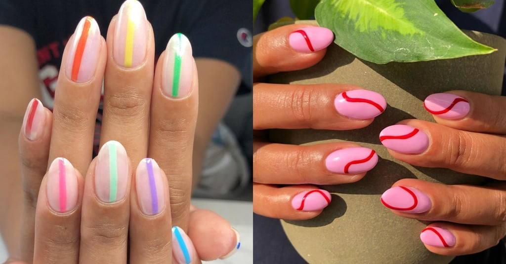 Nail Art Trends 2019 | One Line Nail Art Ideas