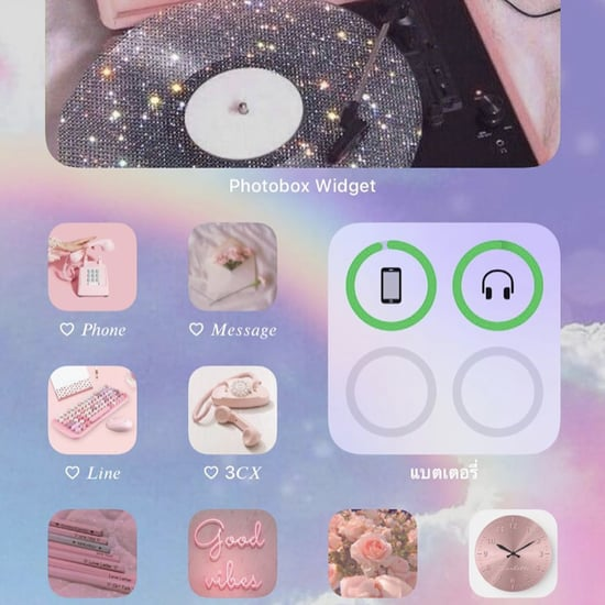 Pastel-Aesthetic iOS 14 Home Screen Ideas