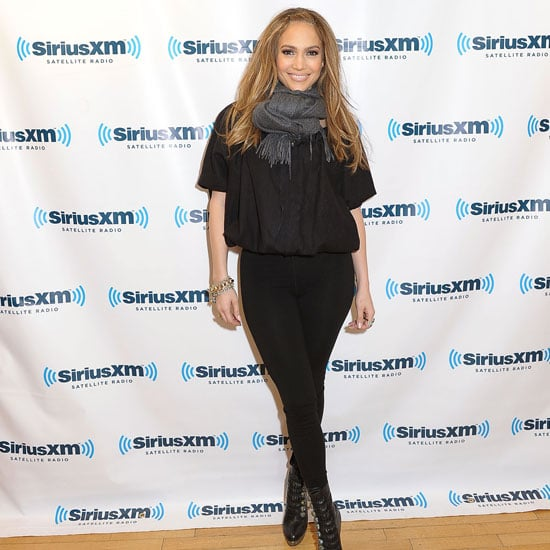 """Jennifer Lopez was up early for an interview at the Sirius XM studios in NYC yesterday. She's happy to be on the East Coast promoting the current season of American Idol, which premiered with her and Steven Tyler in the judging seats last month. Ryan Seacrest shared his thoughts on the show's newest additions on Jimmy Kimmel Live recently, even making a few comments on Steven's """"feminine"""" wardrobe. The Aerosmith rocker's TV time has not only resulted in hilarious and heart wrenching moments, but has also apparently boosted sales of his band's old records."""