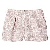 Blush Floral Pleated Jacquard Short   ($28)