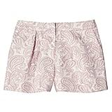 Blush Floral Pleated Jacquard Short   ($28)