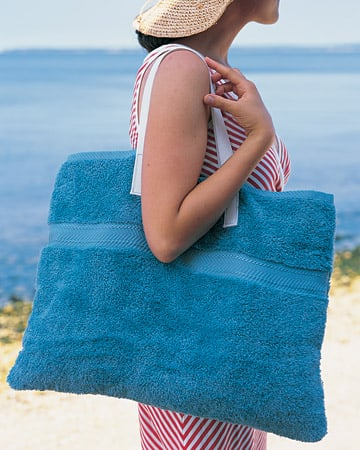 Beach Towel Tote Bag