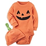 Carter's 2-Piece Halloween Hat and Bodysuit in Orange