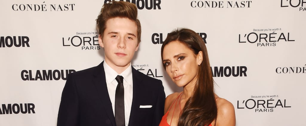 Brooklyn Beckham Honors His Mom, Victoria, With a Glamour Woman of the Year Award