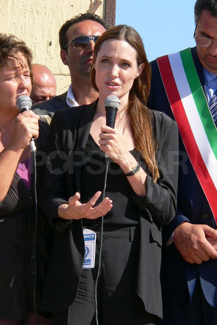 Angelina Jolie Takes Her Philanthropic Talents to Lampedusa