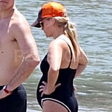 Pregnant Reese Witherspoon hit the beach.