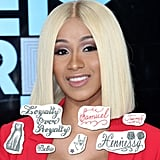 Cardi B Temporary Tattoo Set