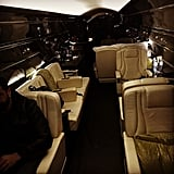 The singer shared an interior shot of his jet.