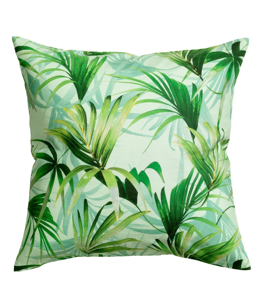 Palm-Patterned Cushion Cover ($10)