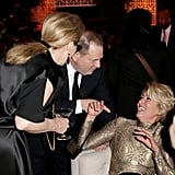 Emma Thompson hammed it up with Harvey Weinstein and Meryl Streep.