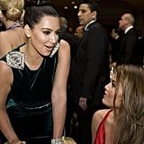 Kim Kardashian had a conversation at the White House Correspondant's Dinner.