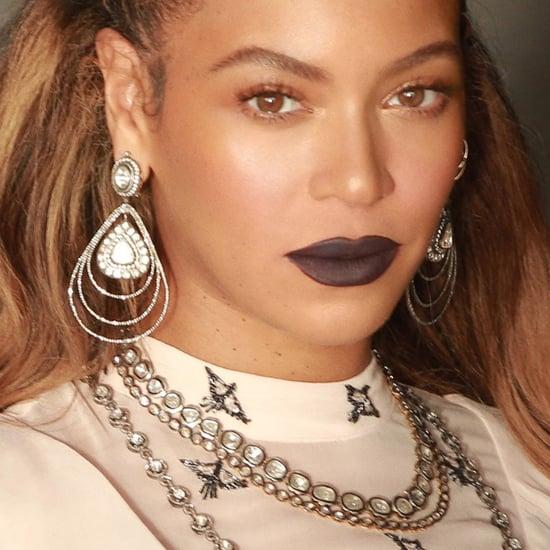 Beyonce Dark Purple Lipstick March 2018