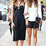 Rumi Neely and Chiara Ferragni were on the same page in black and white.