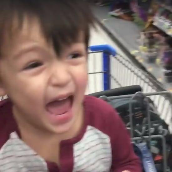 Dad in Dinosaur Mask Scares Son in Walmart