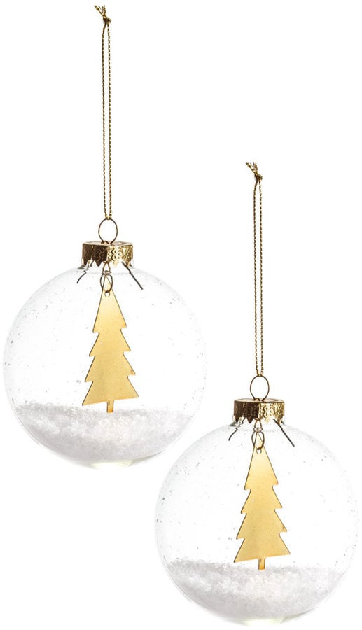 2 pack christmas ornaments 13 37 holiday decorations for H m christmas decorations