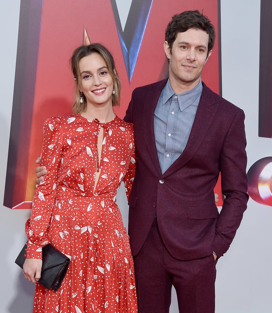 Adam Brody and Leighton Meester Had a Rare Night Out at the Shazam!