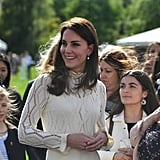 Kate Middleton Delights Kids by Launching a Giant Slingshot From Buckingham Palace