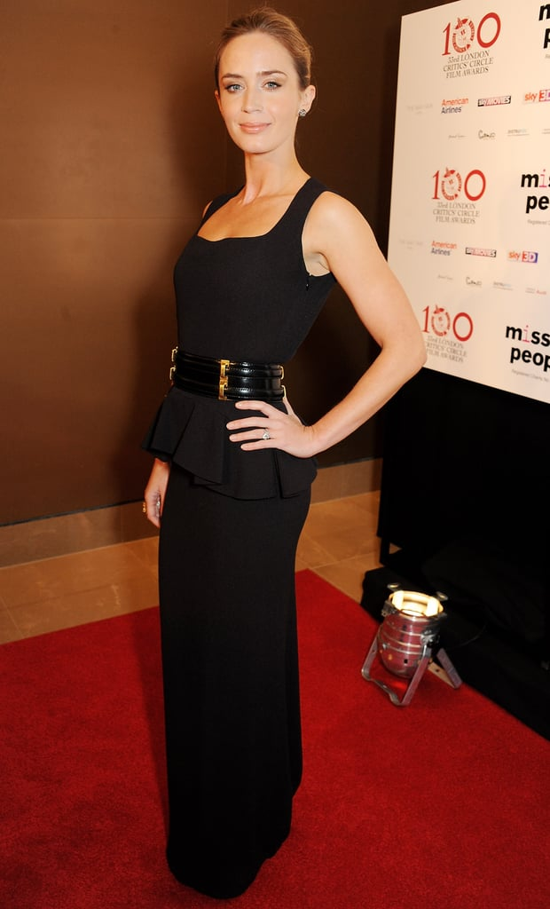 Emily Blunt attended the London Film Critics' Circle Awards on Sunday.