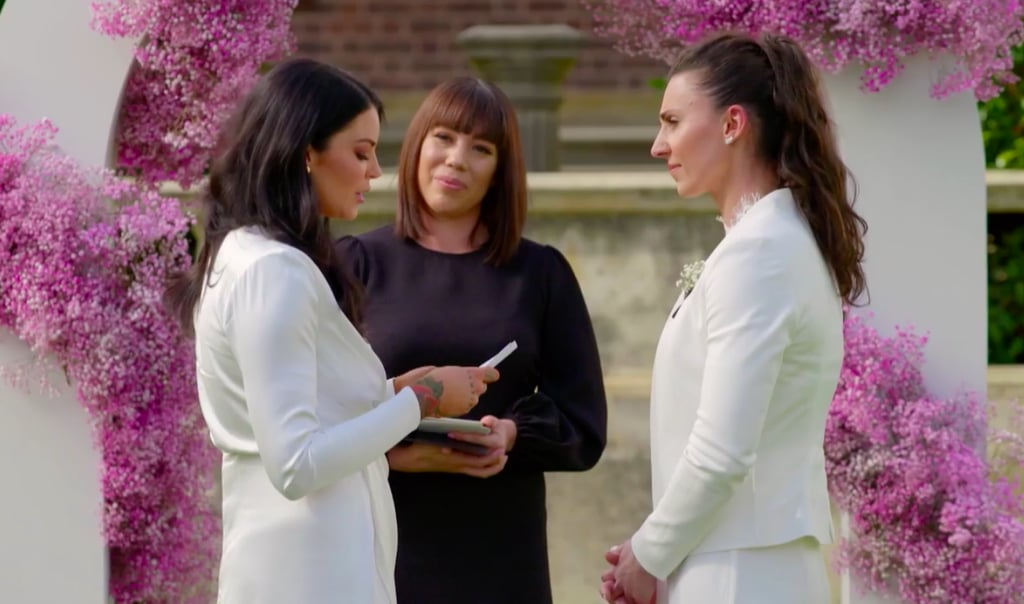 queer-baiting married at first sight image of amanda and tash wedding