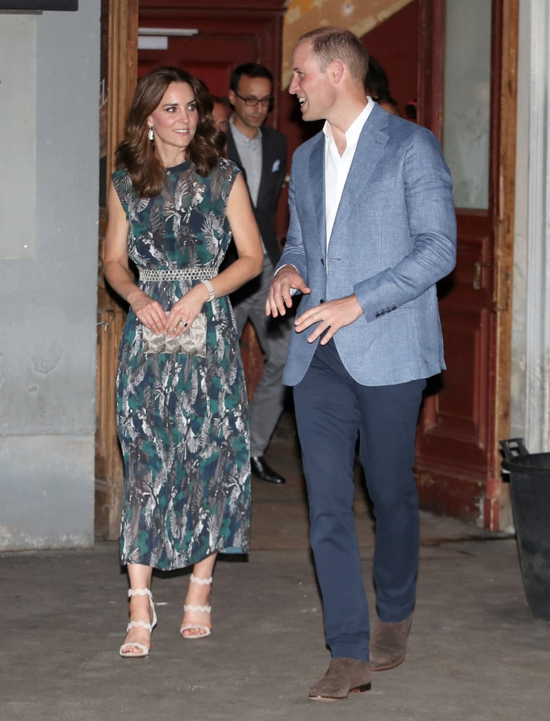 Wearing Prada heels.