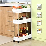 Aogist 3 Tier Slim Storage Cart Mobile Shelving Unit