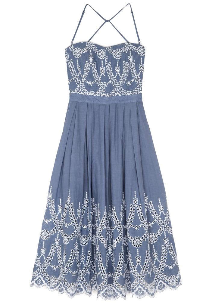 Cotton Eyelet Halter Dress ($188)