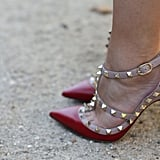 Valentino's heels married edgy studs with the posh appeal of a ladylike pump.