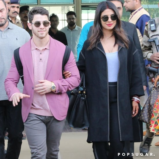 Priyanka Chopra's Denim Suit With Nick Jonas