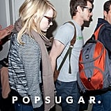 Andrew Garfield and Emma Stone arrived at LAX.