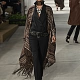 Ralph Lauren's collection was also pretty cowgirl-like, but we'd rock this poncho with a simple pair of jeans.