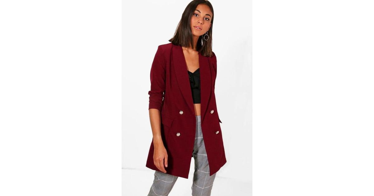 e03f24760f3b Boohoo Abigail Premium Button Longline Blazer   Best Blazers   POPSUGAR  Fashion Photo 11