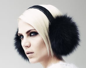 Fox Fur and Leather Ear Muffs (approx $179)