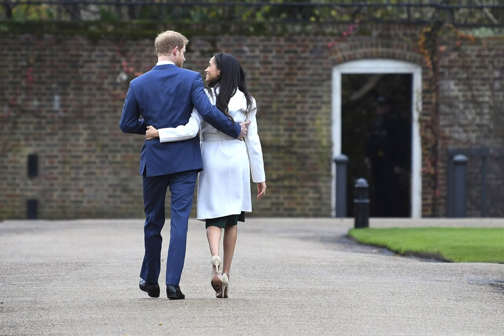 "Meghan on Harry's proposal: ""It was just an amazing surprise. It was so sweet and natural and very romantic. He got down on one knee . . . As a matter of fact, I could barely let [him] finish proposing, like, 'Can I say yes now?!'"" Meghan on how they met: ""It was definitely a set-up, it was a blind date . . . Because I'm from the States, you don't grow up with the same kind of understanding of the royal family, and so while I now understand very clearly there's a global interest there, I didn't know much about him. So the only thing that I had asked her [the mutual friend] was 'Is he nice?' because if he wasn't kind, it didn't seem like it would make sense."" Meghan on how she tunes out critics of their relationship: ""Of course it's disheartening. It's a shame that that is the climate in this world, to focus that much on that, to be discriminatory in that sense. I think, you know, at the end of the day, I'm really just proud of who I am and where I've come from and we have never put any focus on that. We've just focused on who we are as a couple. And so when you take all those extra layers away and all of that noise, I think it makes it really easy to just enjoy being together."""