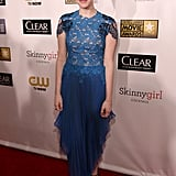 Amanda Seyfried stepped out in an embellished blue gown.
