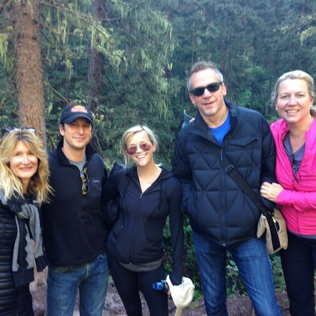 """Morning hike with my #WILDmovie crew. Laura Dern, David Greenbaum, Jean Marc Vallee and @cherylstrayed #Tellruide #thegangisbacktogeether,"" Reese captioned this group picture."