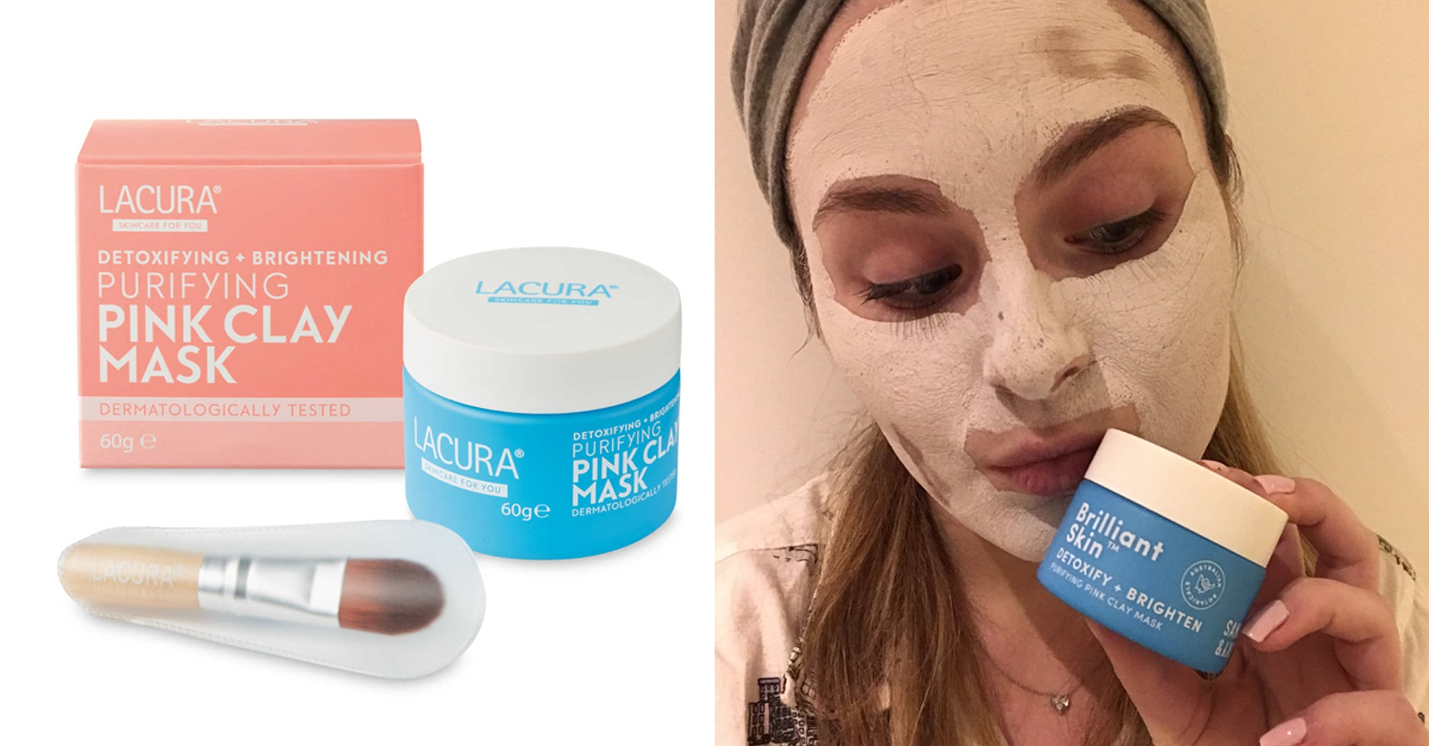 60b7b7b91c88 Chances are you ve seen the pretty pink and aqua blue packaging of Sand and  Sky s Australian Pink Clay Porefining Face Mask (although it recently  slightly ...