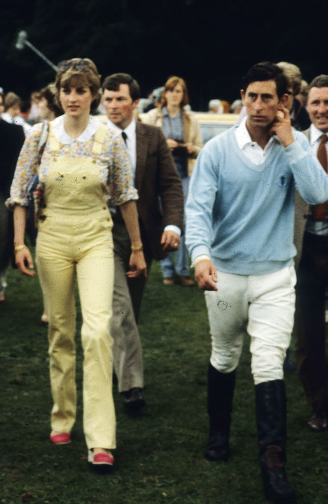 Weeks before their 1981 marriage, they went casual for a polo match in England.