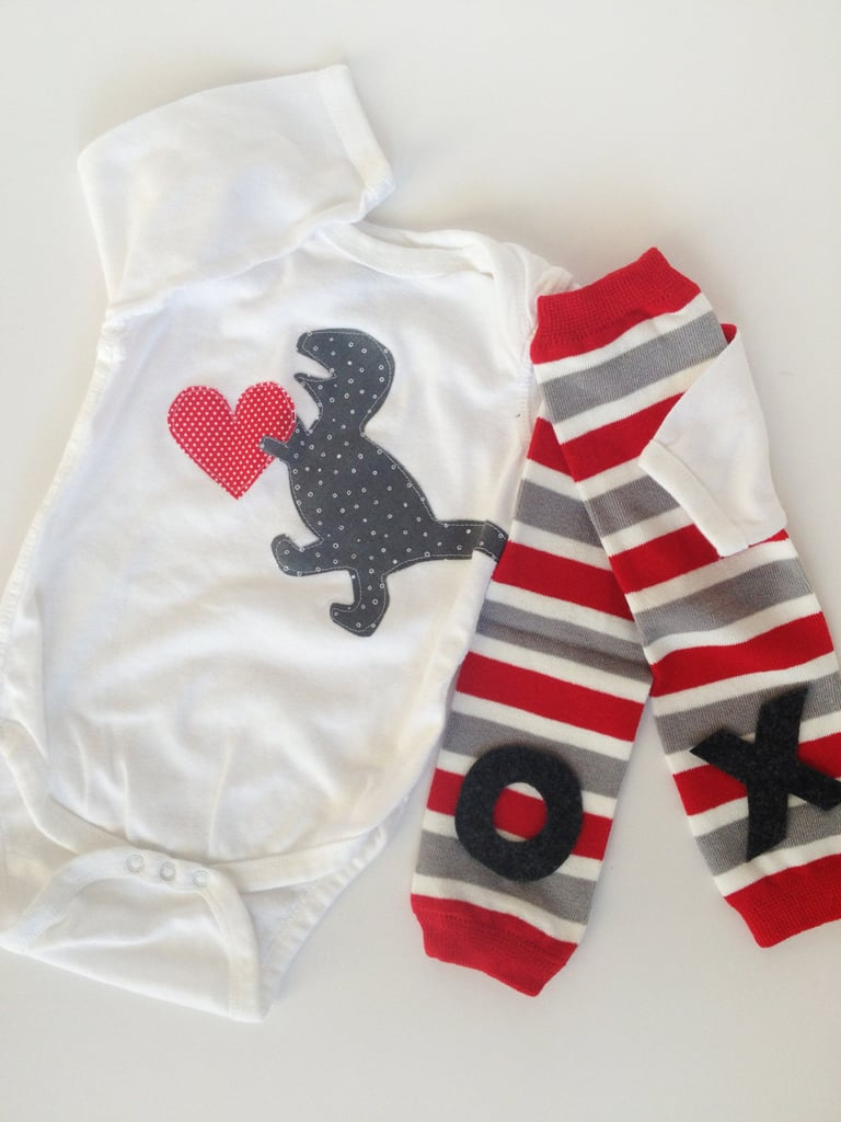 T. Rex Onesie and Leg Warmers