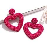 XOCARTIGE Beaded Heart Earrings