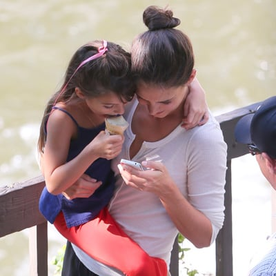 Katie Holmes and Suri Cruise in Cleveland