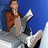 Lance Bass had fun at the Delta bash.