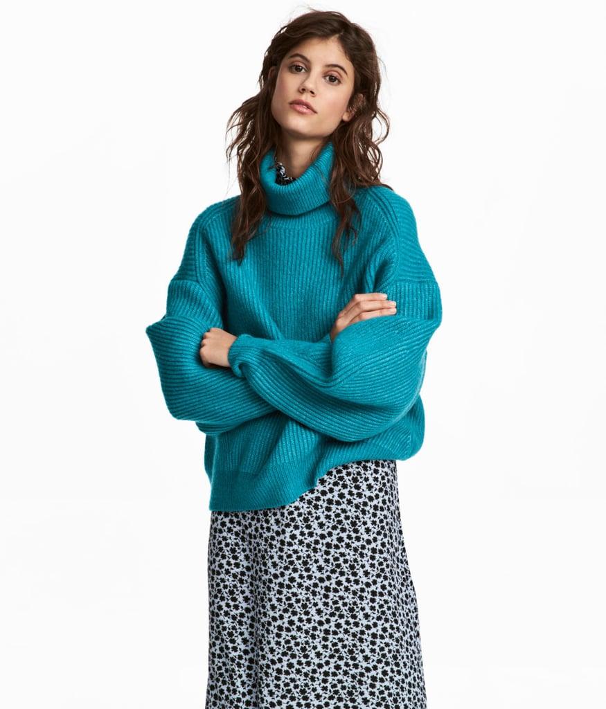 H&M Knit Turtleneck Sweater | Cheap Winter Sweaters 2018 ...
