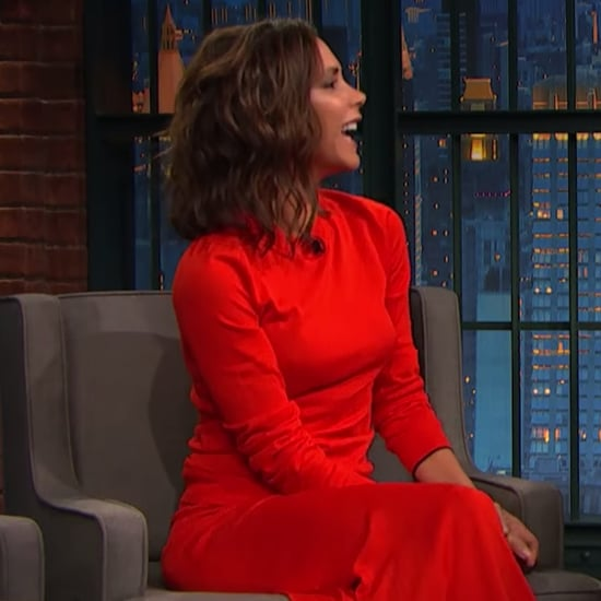 Victoria Beckham on Late Night with Seth Meyers 2016