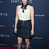Kate Mara looked darling at the VIP screening of Fantastic Four, pairing her new haircut with a lacy look from Louis Vuitton.