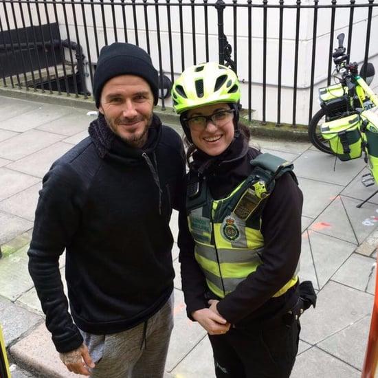 David Beckham Buys Coffee For Paramedic